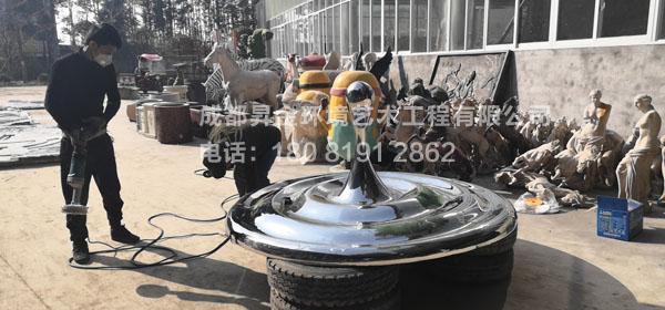 不銹鋼藝術水滴雕塑