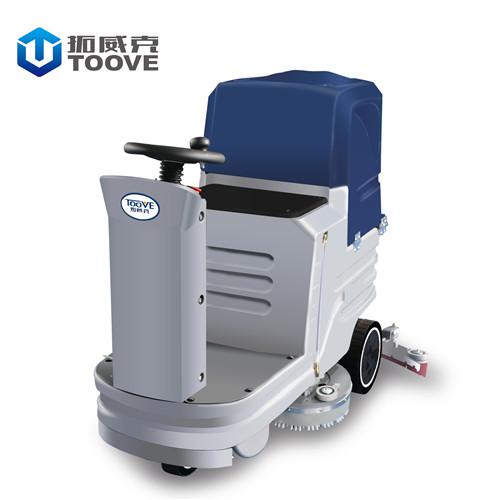 拓威克D6淮安工厂用高压洗地机 双刷电瓶驾驶式全自动洗地机 多功能擦地机