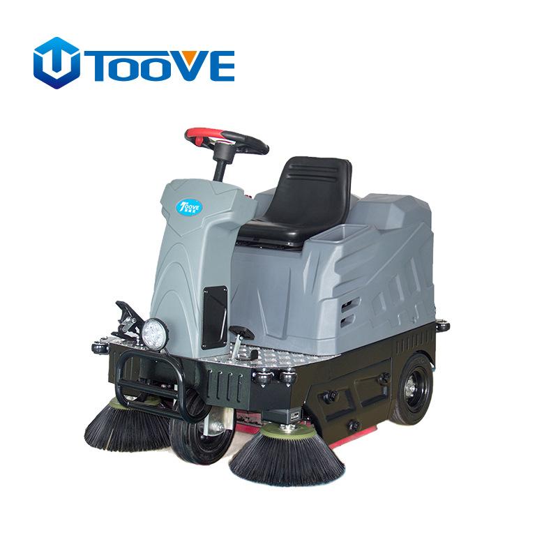 TS-MINI驶式双刷扫地机 学校工厂车间用电瓶电动扫地机