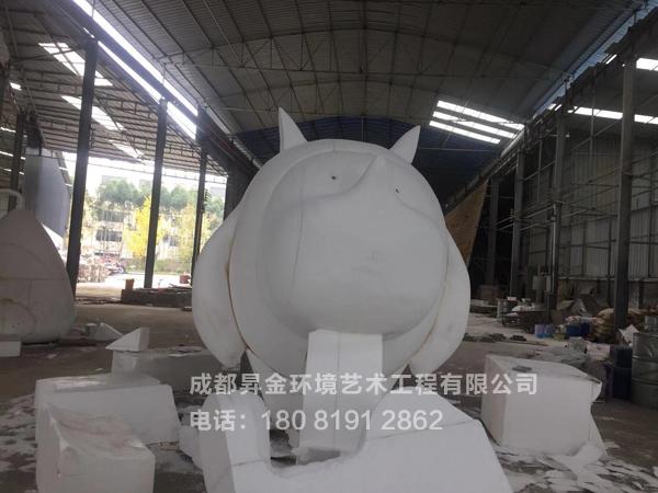 泡沫犀牛雕塑