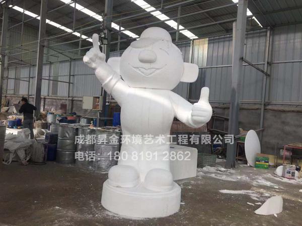 娃哈哈泡沫人物雕塑