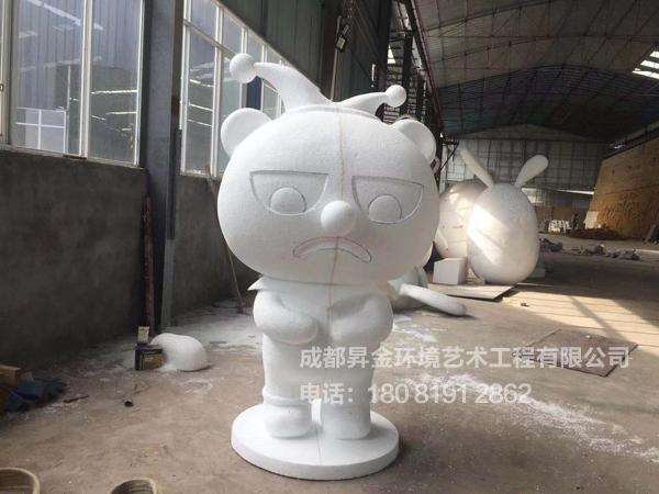 泡沫熊猫造型雕塑