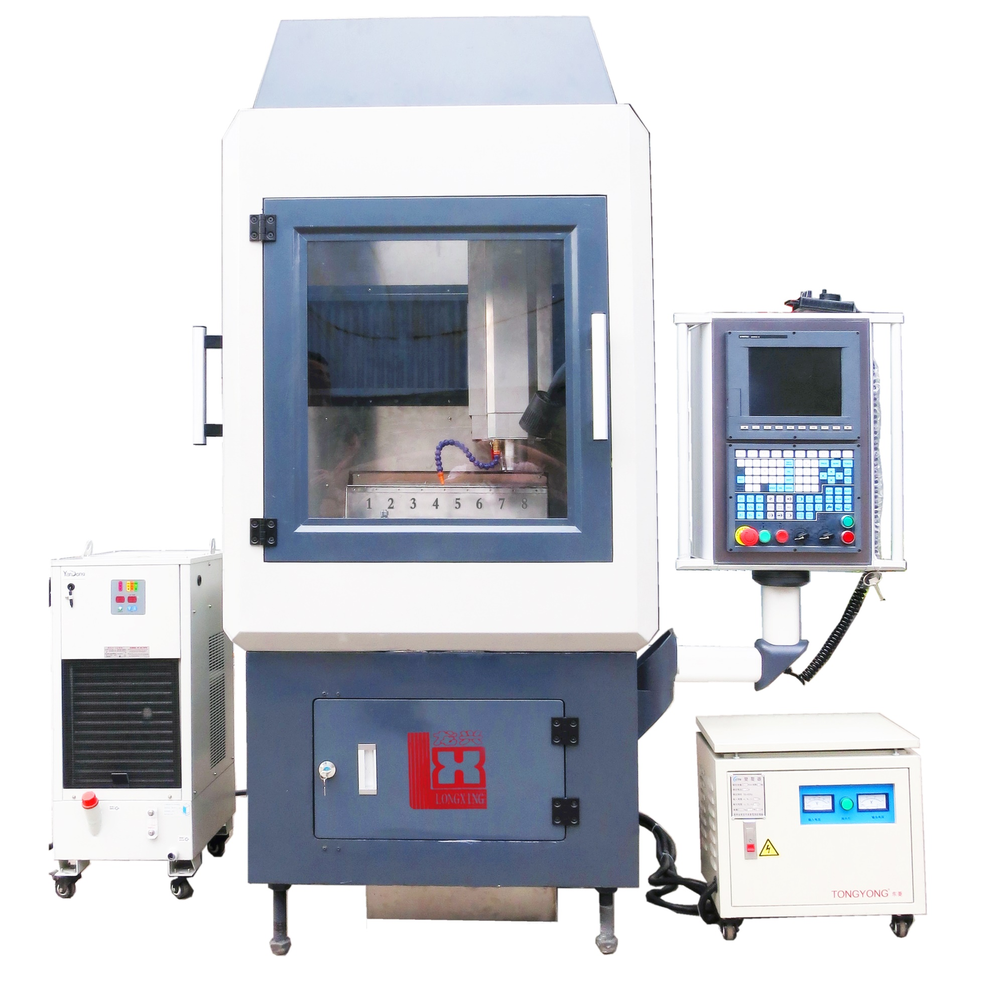 LX1203 CNC车花机(五轴八刀库)