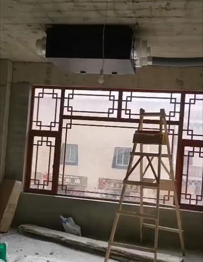 工程案例丨理塘仙鹤电竞网咖新风、地暖安装工程