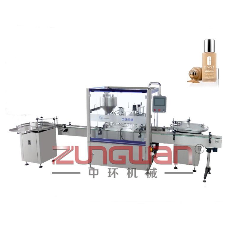 ZHFD-1612F全自动粉底液灌装压刷旋盖机
