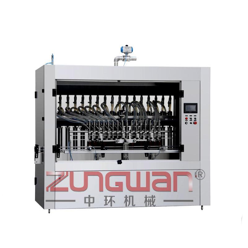 ZHLF-16D全自动食品类液体活塞式灌装机