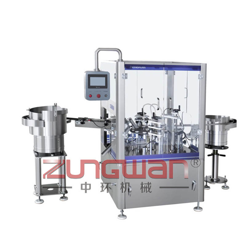 ZHR-SGW全自动双工位乳液灌装旋盖机