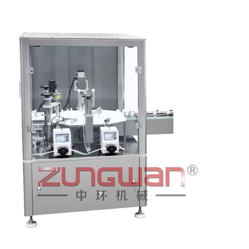 ZHY-DGW全自动单工位液体灌装旋盖机