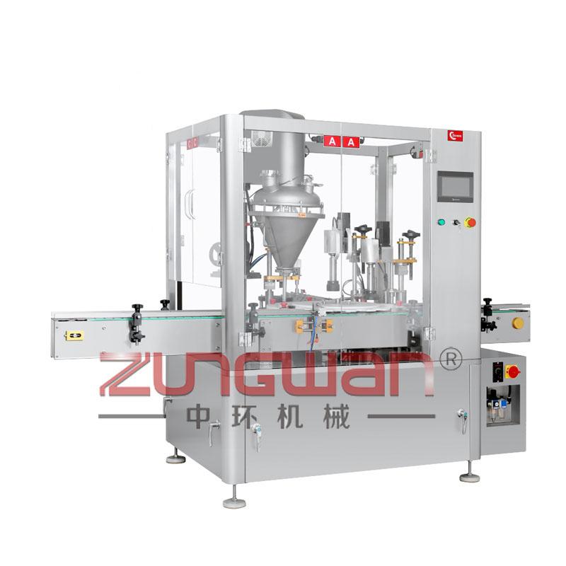ZHF-SGW全自动双工位粉末灌装旋盖机