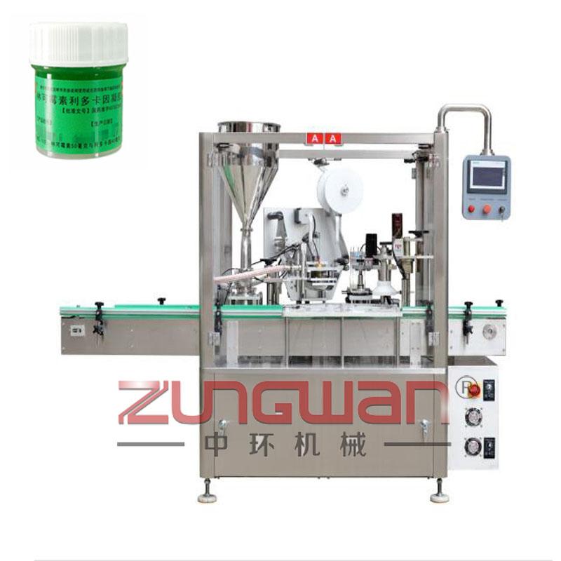 ZHL-F30全自动瓶装灌装铝膜封口旋盖机