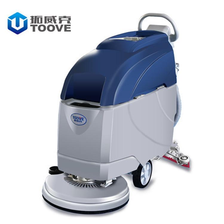 拓威克TX-D4手推式洗地机 无线充电全自动洗地车  商用物业保洁拖地擦地机