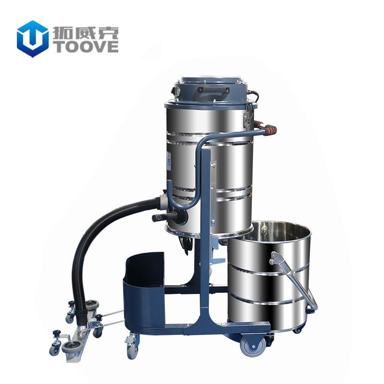 拓威克PY361ES手动振尘上下分离桶工业吸尘器 大功率吸水吸尘机