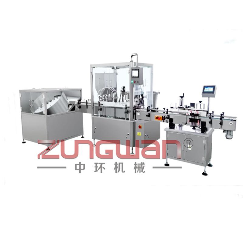 ZHX-YTX全自动液体灌装旋盖贴标生产线