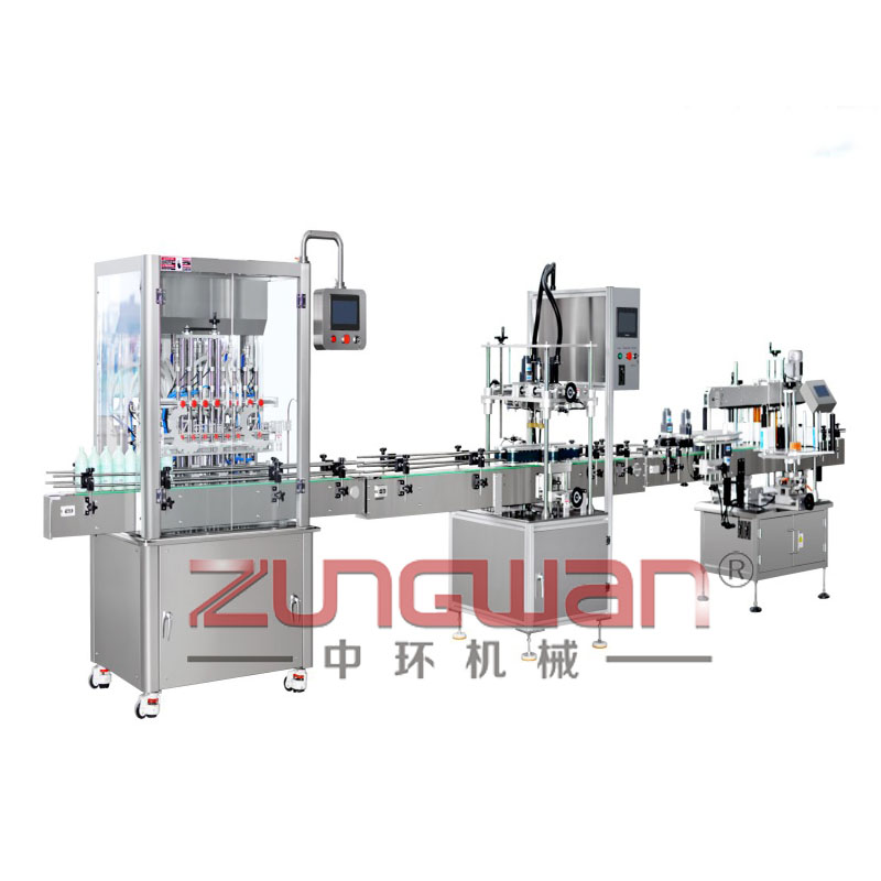 ZHX-GTX全自动膏体灌装旋盖贴标生产线