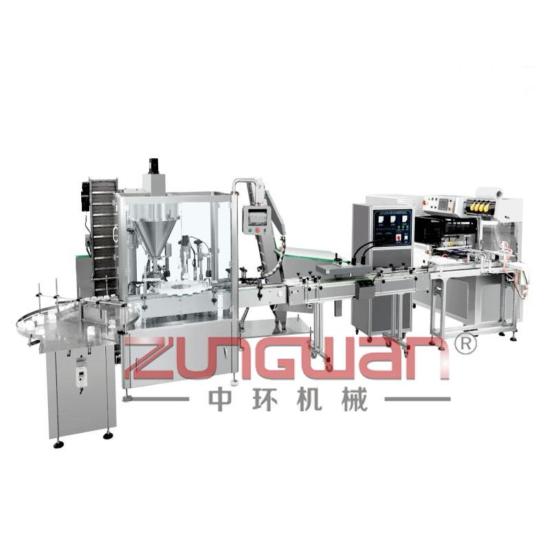 ZHX-FMX全自动粉末灌装旋盖封口生产线