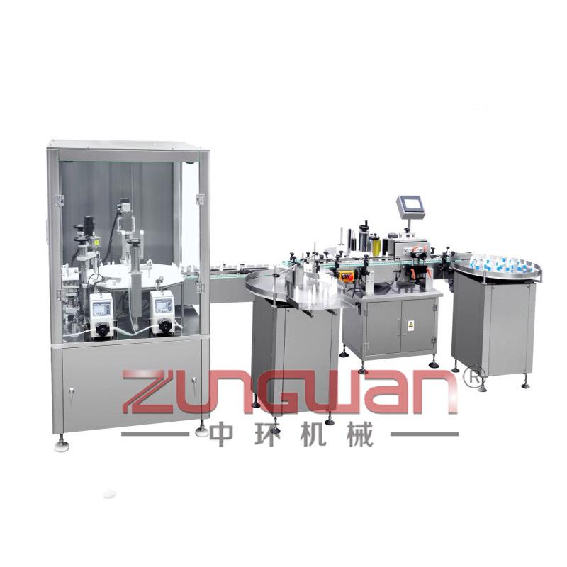 ZHX-DYY全自动滴眼液灌装旋盖贴标生产线