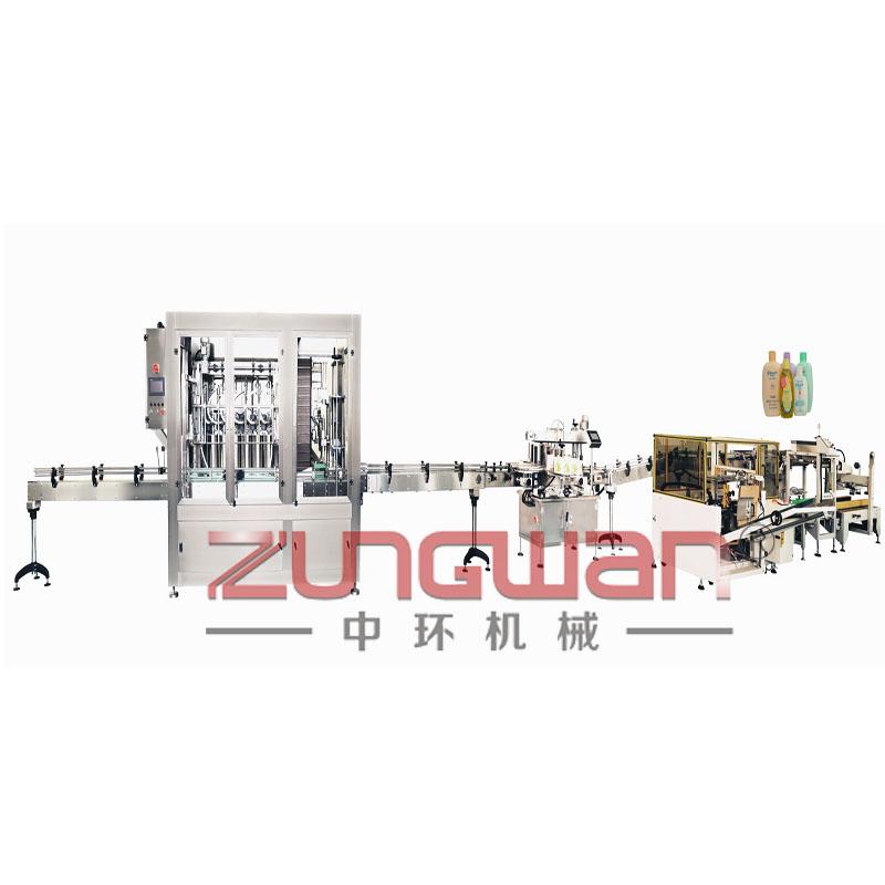 ZHX-SRX全自动水乳膏霜灌装旋盖生产线