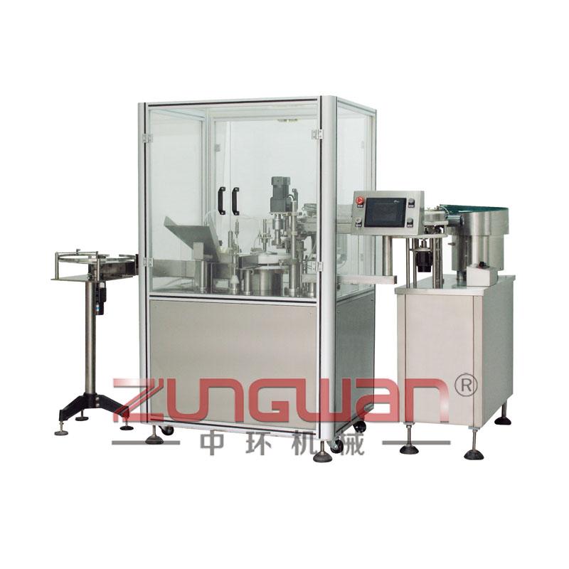 ZHG-50F全自动异型瓶膏霜灌装压盖机