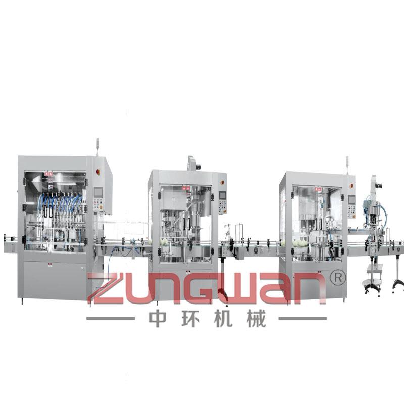 ZHS-8全自动日用品膏液两用活塞灌装生产线