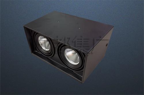 明裝方形射燈(雙頭)
