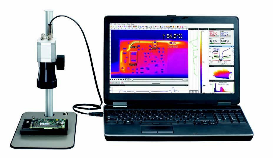 电子行业-微小组件的热成像温度测量