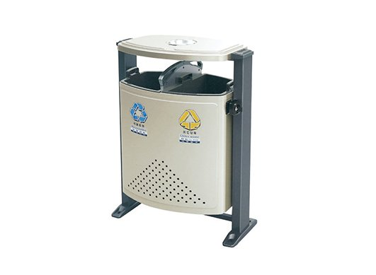 镀锌板喷塑垃圾箱CQU-DX-S002
