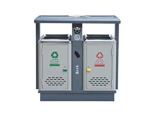 镀锌板喷塑垃圾箱CQU-DX-S001
