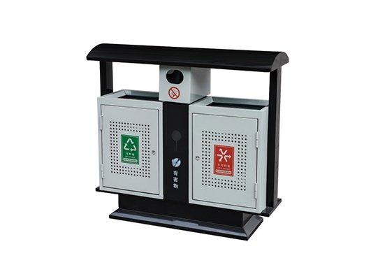 镀锌板喷塑垃圾箱CQU-DX-S005