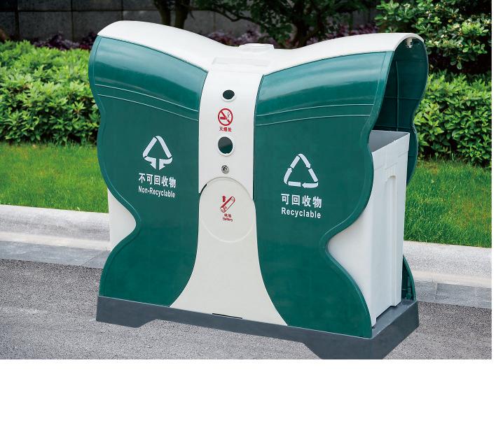 玻璃钢垃圾箱CQU-BL-D015