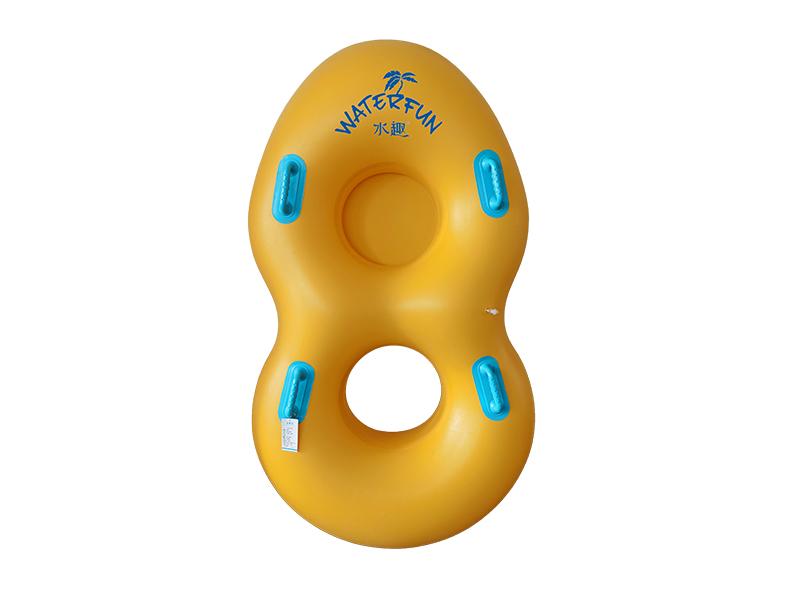 水公园双人充气皮筏(亲子加底兜款)
