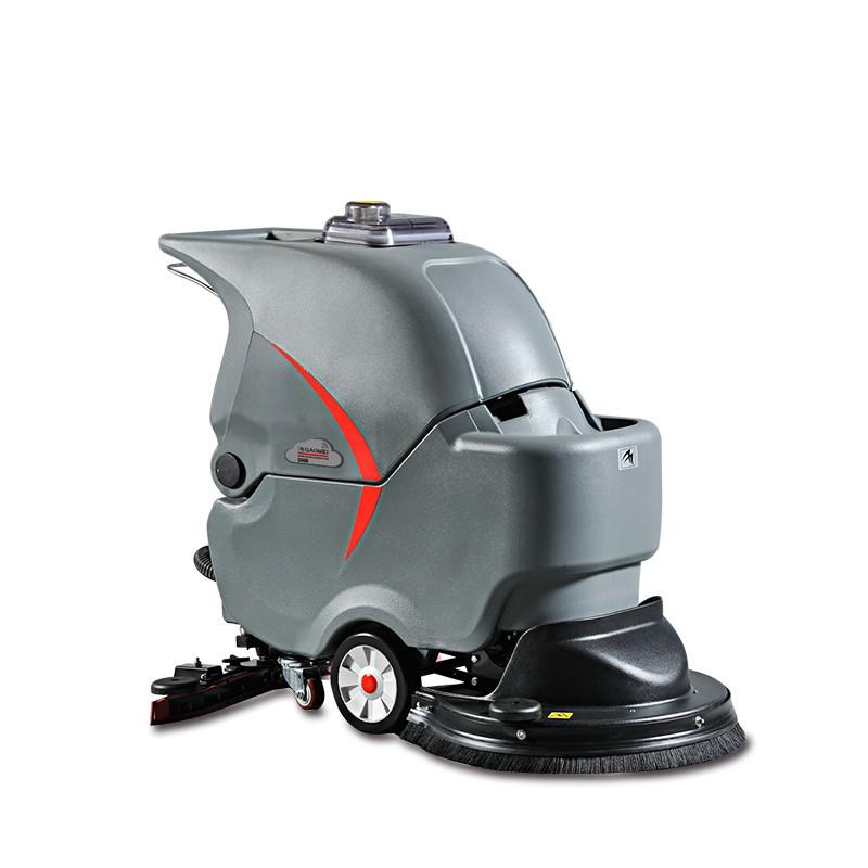 S56B车间塑胶地面洗地机-超市洗地机-地铁站全自动拖地机