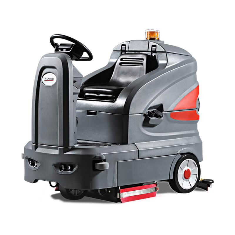 S130电瓶式电动洗地机-高美智慧型洗地车-大型场所地面驾驶式洗地车