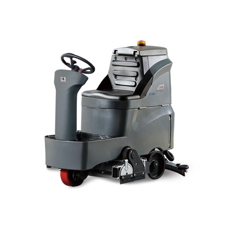 超市/车间/机场/车站地面电瓶式洗地车-高美GM-MINI迷你驾驶式洗地车