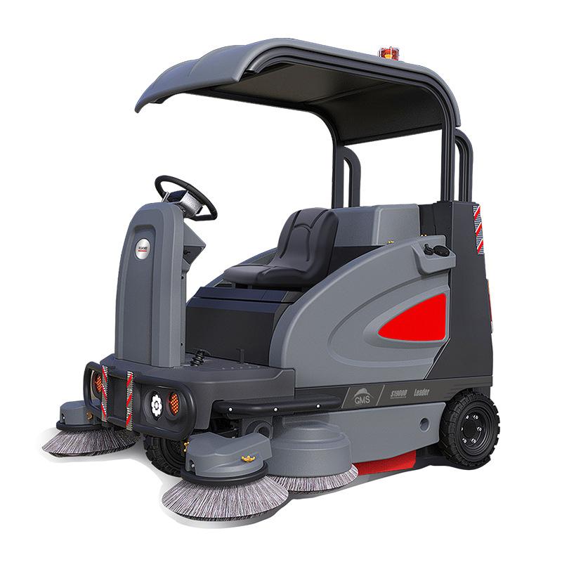 高美S1900半封闭驾驶式扫地车-智慧型全自动扫地机-停车场工厂用扫地机