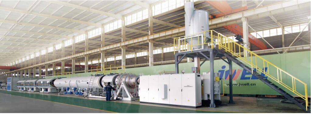 大口徑HDPE實壁管擠出生產線