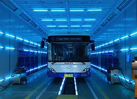 公交車紫外線消毒車間