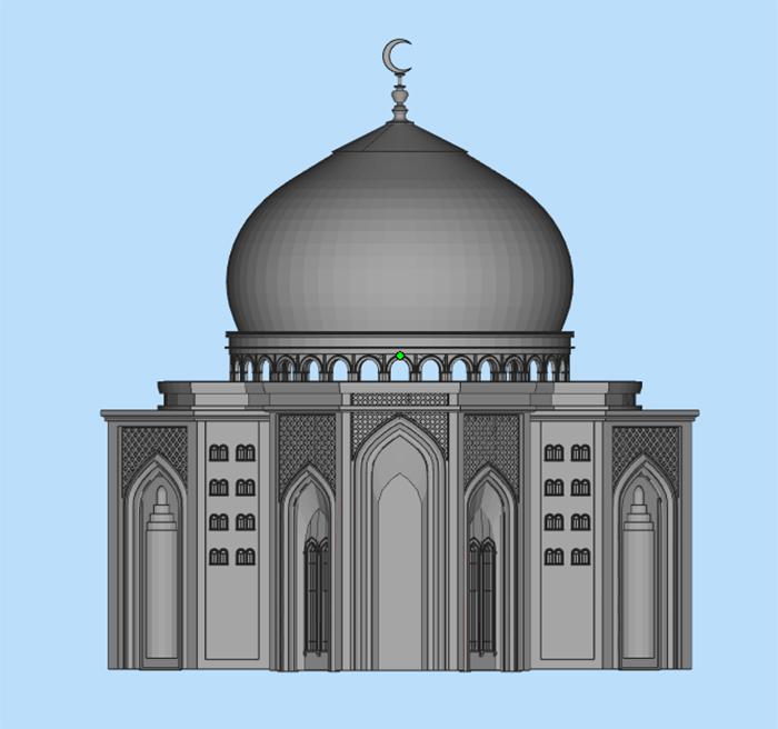 杭州博型泰姬陵模型修复3D打印模型5.jpg