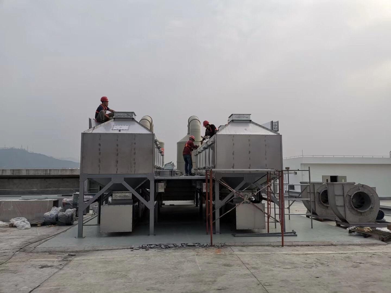 珠海方正科技PCB产业园区,6套吸附浓缩+.  CO催化燃烧设备发货及安装