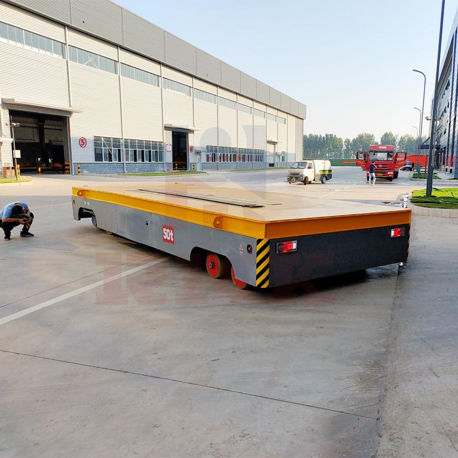 50吨液压转向无轨车 应用于机械制造业重型工件、板材等材料运输