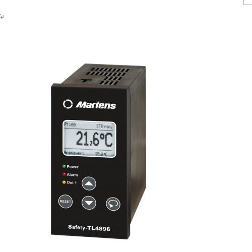 martens   STL4896系列 温度控制器 (希而科代理,进博会优势品牌,极速报价)