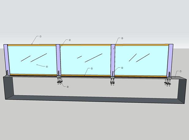 裝配式玻璃防洪墻