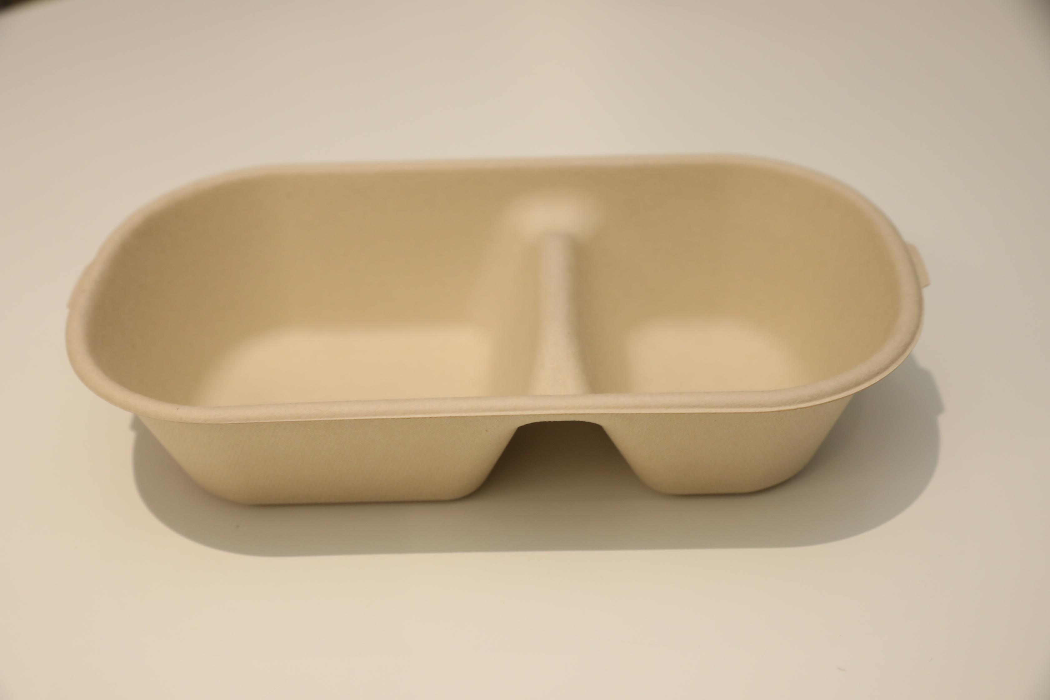 800ml 2-格午餐盒底T扣-L232xW133xH51