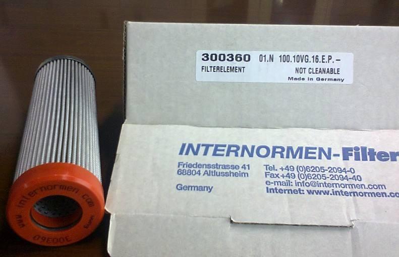 原装进口INTERRANMAN英德诺曼滤芯在液压系统的成功应用案例HP361.10VG.HR.E.P.IS06