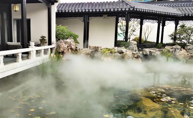 义乌桃花源园林景观造雾案例