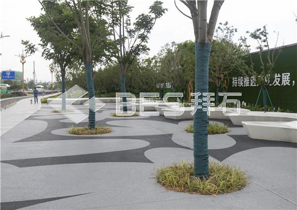 宁波奉化大成路透水混凝土工程