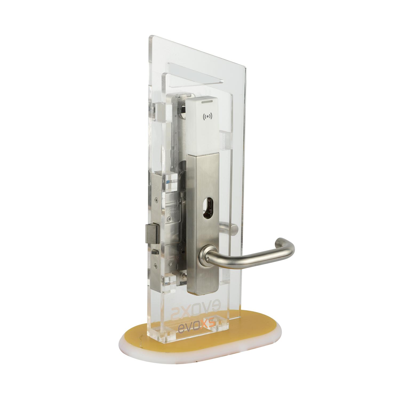 欧标窄款电子面板锁