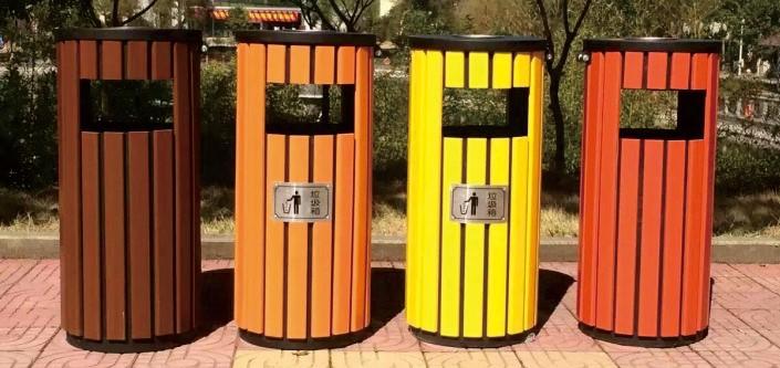 钢木垃圾桶CQU-GM-Y046