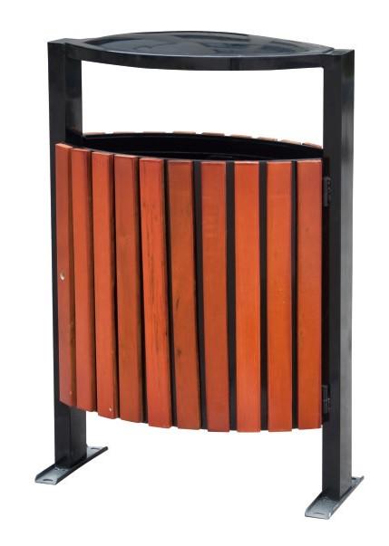 钢木垃圾桶CQU-GM-D063