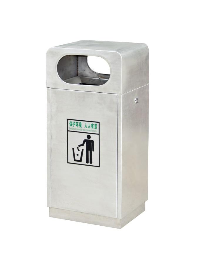 镀锌板喷塑垃圾箱CQU-DX-D151