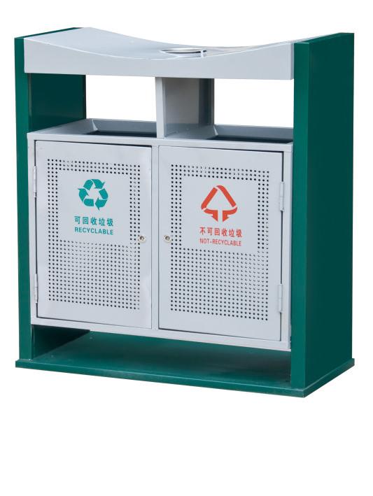 镀锌板喷塑垃圾箱CQU-DX-S026